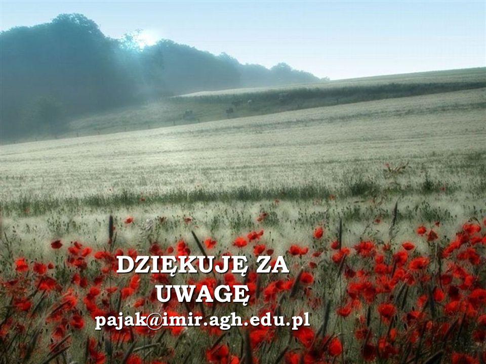 DZIĘKUJĘ ZA UWAGĘ pajak@imir.agh.edu.pl