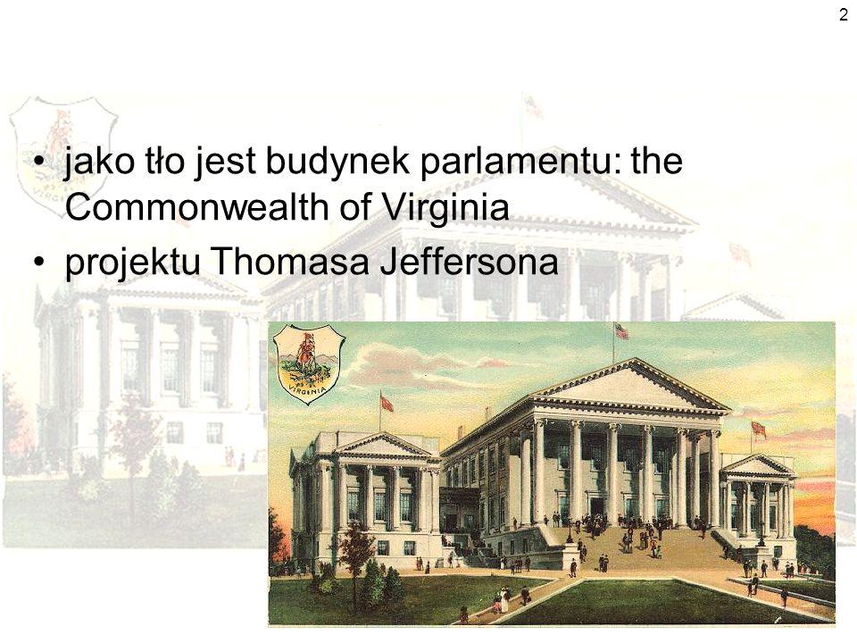 2 jako tło jest budynek parlamentu: the Commonwealth of Virginia projektu Thomasa Jeffersona