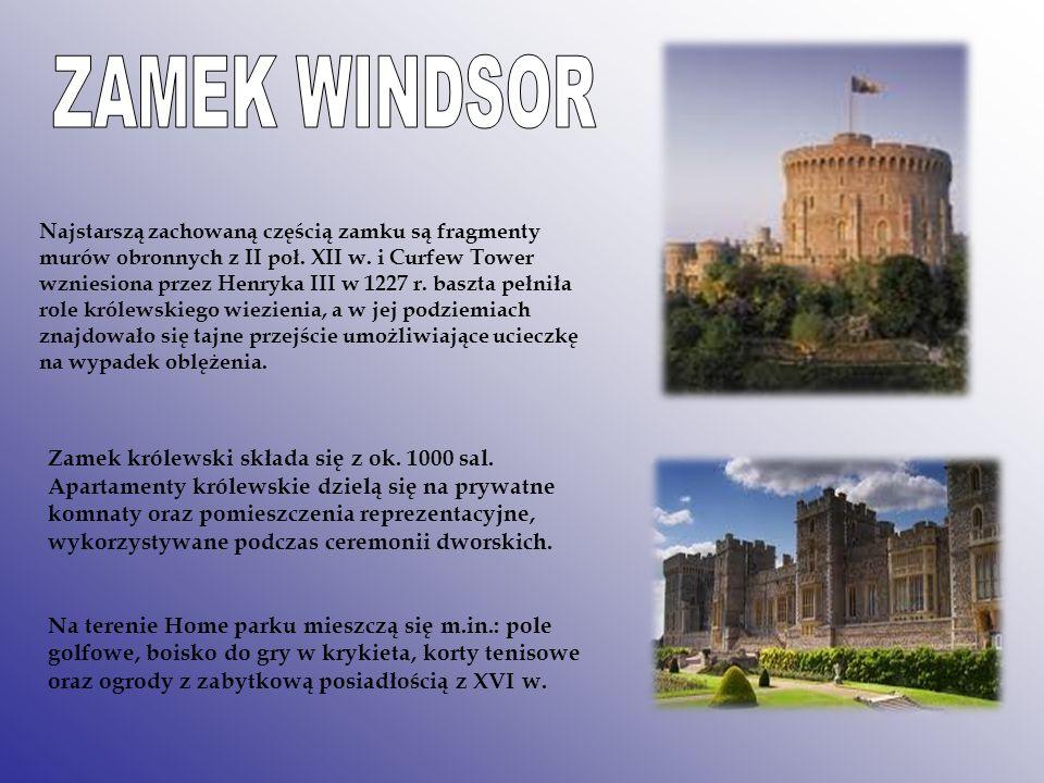 Najstarszą zachowaną częścią zamku są fragmenty murów obronnych z II poł. XII w. i Curfew Tower wzniesiona przez Henryka III w 1227 r. baszta pełniła