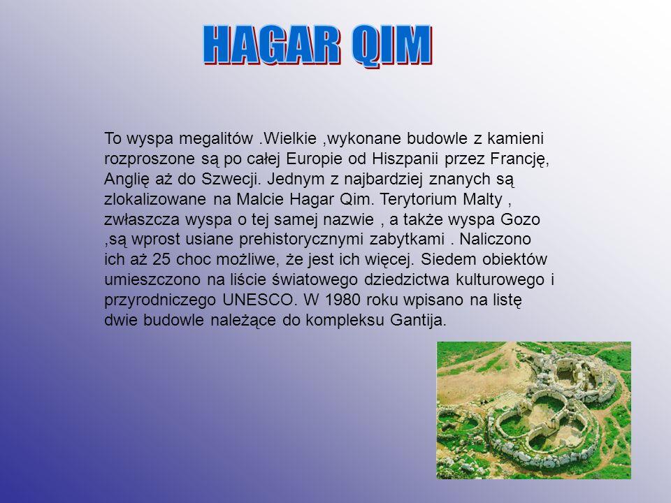 To wyspa megalitów.Wielkie,wykonane budowle z kamieni rozproszone są po całej Europie od Hiszpanii przez Francję, Anglię aż do Szwecji. Jednym z najba