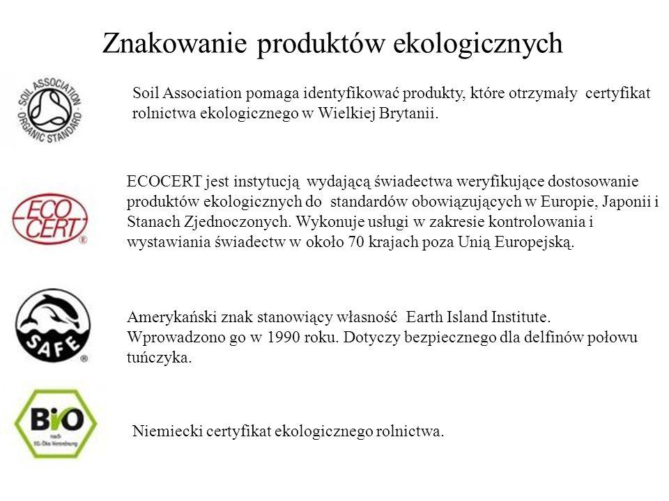Znakowanie produktów ekologicznych Soil Association pomaga identyfikować produkty, które otrzymały certyfikat rolnictwa ekologicznego w Wielkiej Bryta