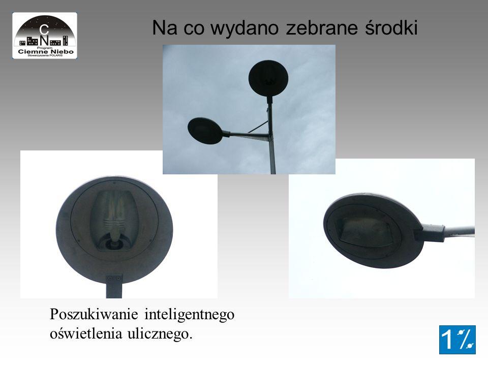 Na co wydano zebrane środki Poszukiwanie inteligentnego oświetlenia ulicznego.