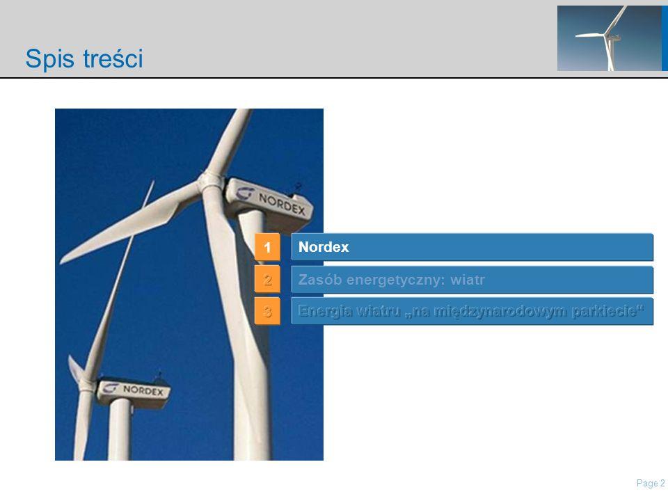 Page 2 nordisch\Presentations\IP Presentation Nordex\21 Roadshow Pres Nordex_May2006.ppt Spis treści Nordex 1 Zasób energetyczny: wiatr
