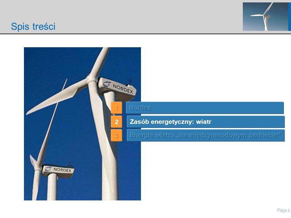 Page 4 nordisch\Presentations\IP Presentation Nordex\21 Roadshow Pres Nordex_May2006.ppt Spis treści Zasób energetyczny: wiatr 2