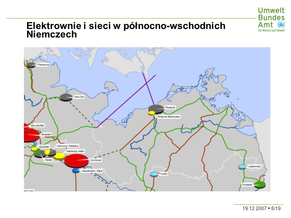 19.12.2007 8/19 Elektrownie i sieci w północno-wschodnich Niemczech