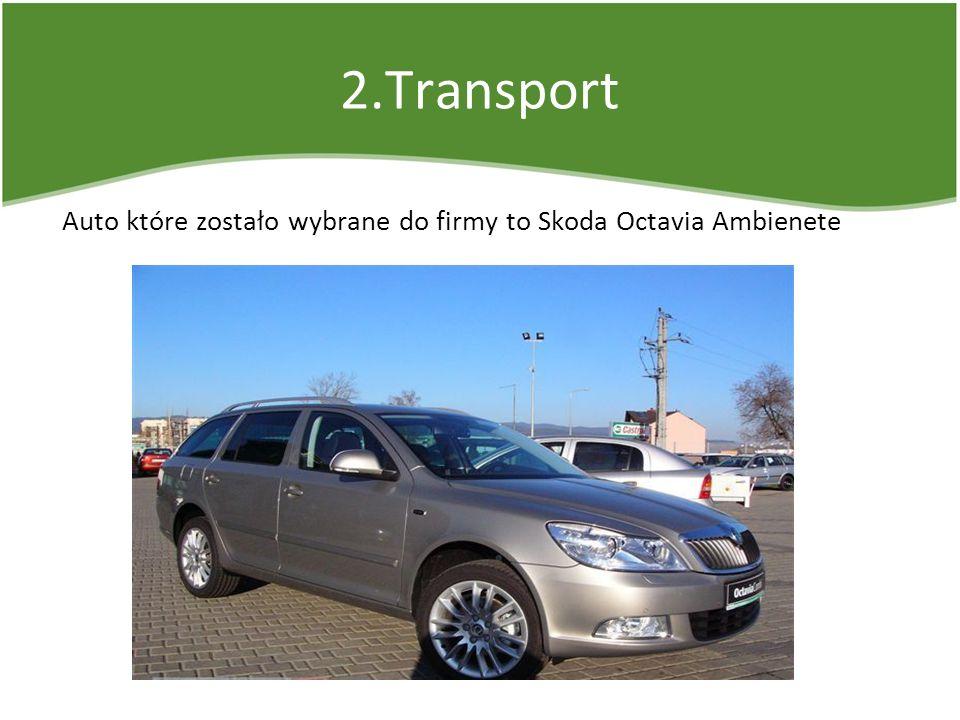 2.Transport Auto które zostało wybrane do firmy to Skoda Octavia Ambienete