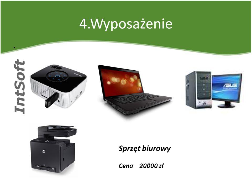 4.Wyposażenie ` Sprzęt biurowy Cena 20000 zł