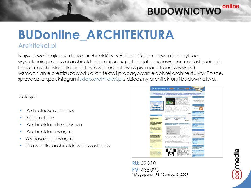 Największa i najlepsza baza architektów w Polsce. Celem serwisu jest szybkie wyszukanie pracowni architektonicznej przez potencjalnego inwestora, udos
