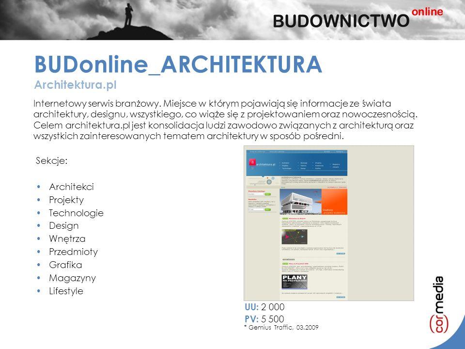 Internetowy serwis branżowy. Miejsce w którym pojawiają się informacje ze świata architektury, designu, wszystkiego, co wiąże się z projektowaniem ora