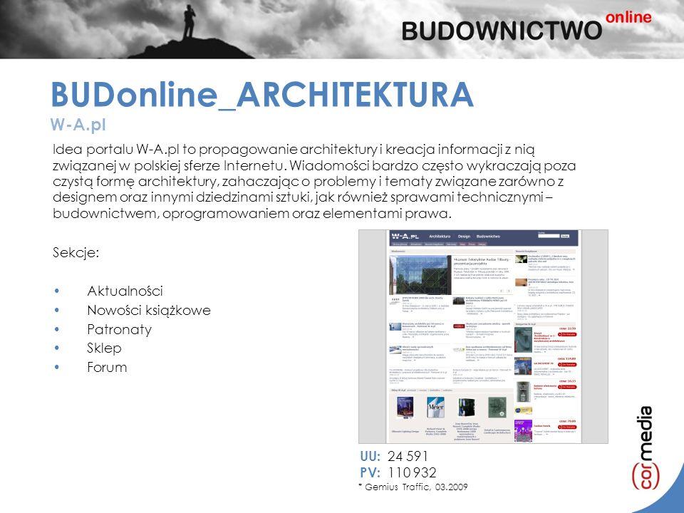 Idea portalu W-A.pl to propagowanie architektury i kreacja informacji z nią związanej w polskiej sferze Internetu. Wiadomości bardzo często wykraczają