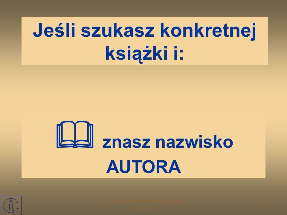 Warsztat Informacyjny Biblioteki Szkolnej 9 KATALOGI: formalne: alfabetyczny tytułowy rzeczowe: systematyczny (np. UKD) przedmiotowy