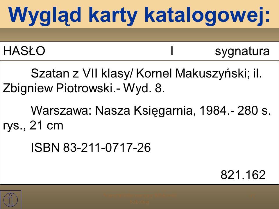 Warsztat Informacyjny Biblioteki Szkolnej 30 9 - archeologia, prehistoria, geografia, biografie, historia Katalog UKD podstawowe działy: