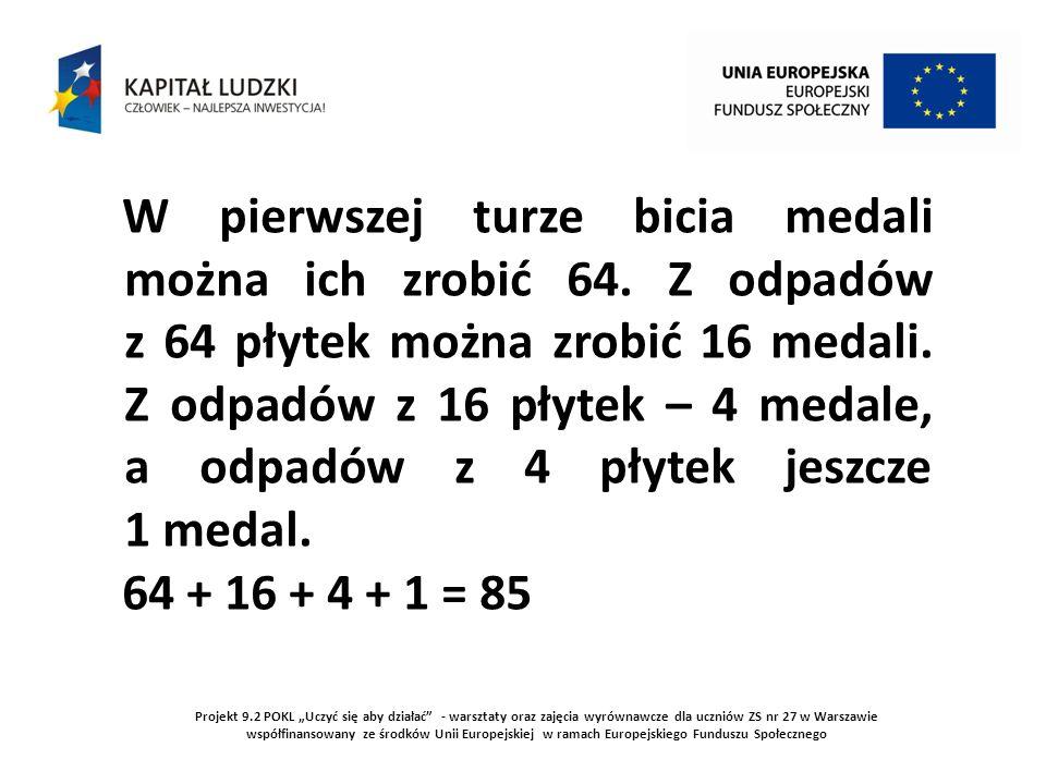 Projekt 9.2 POKL Uczyć się aby działać - warsztaty oraz zajęcia wyrównawcze dla uczniów ZS nr 27 w Warszawie współfinansowany ze środków Unii Europejs