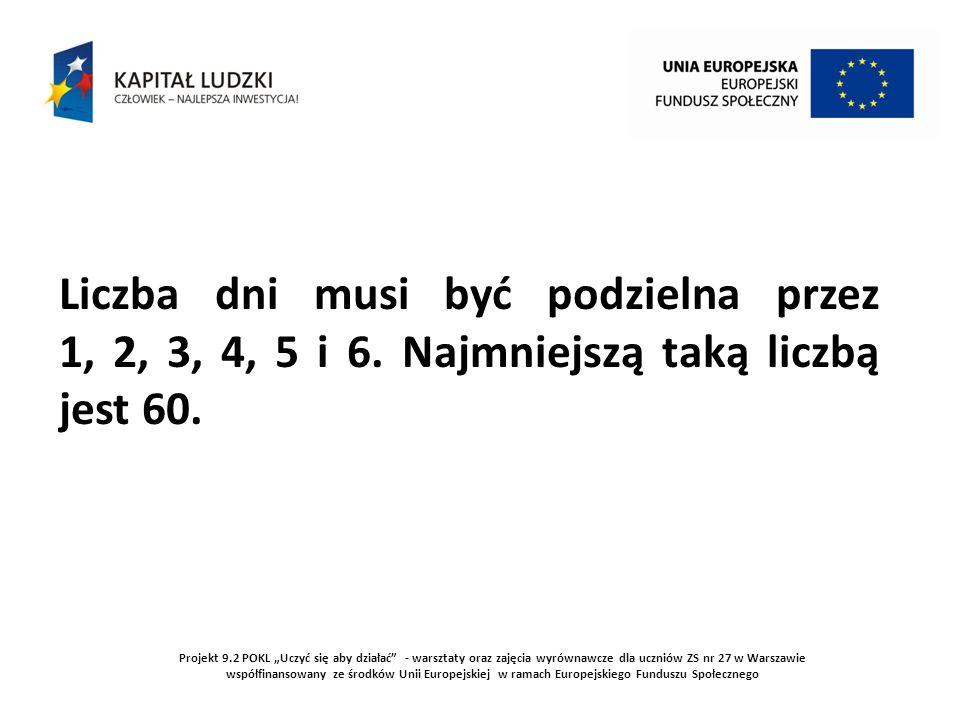 Projekt 9.2 POKL Uczyć się aby działać - warsztaty oraz zajęcia wyrównawcze dla uczniów ZS nr 27 w Warszawie współfinansowany ze środków Unii Europejskiej w ramach Europejskiego Funduszu Społecznego 4.