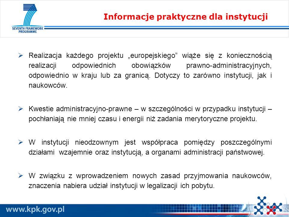 Realizacja każdego projektu europejskiego wiąże się z koniecznością realizacji odpowiednich obowiązków prawno-administracyjnych, odpowiednio w kraju l