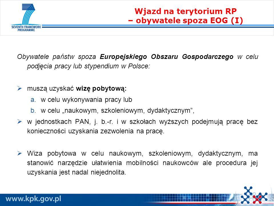 Obywatele państw spoza Europejskiego Obszaru Gospodarczego w celu podjęcia pracy lub stypendium w Polsce: muszą uzyskać wizę pobytową: a.w celu wykony