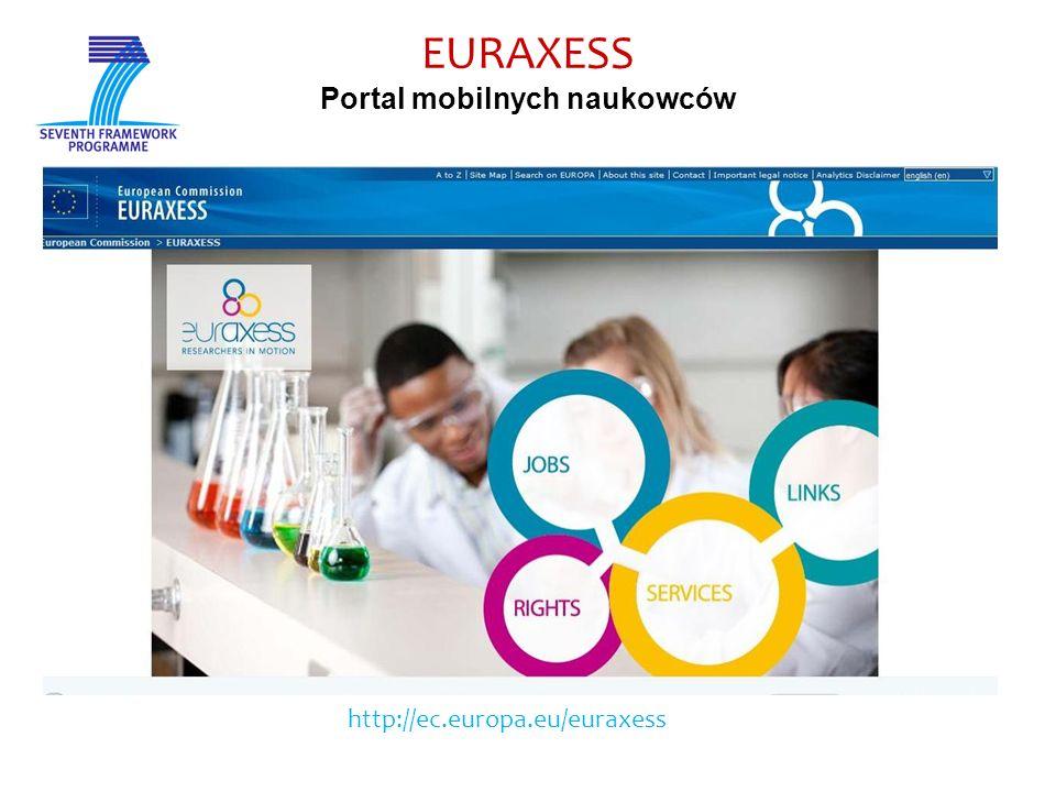 EURAXESS Portal mobilnych naukowców http://ec.europa.eu/euraxess