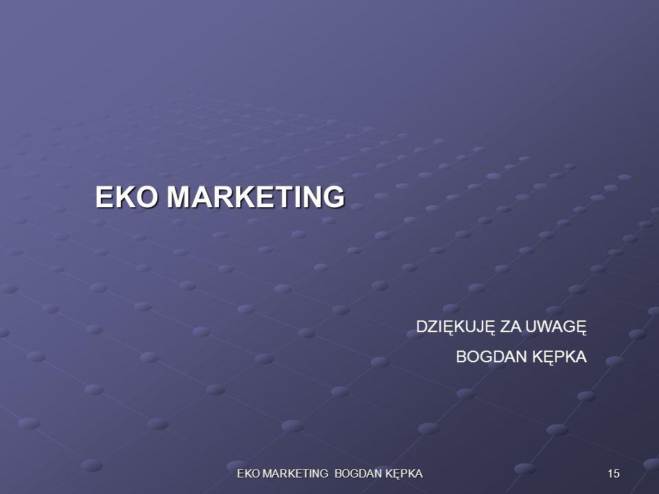 15EKO MARKETING BOGDAN KĘPKA DZIĘKUJĘ ZA UWAGĘ BOGDAN KĘPKA EKO MARKETING