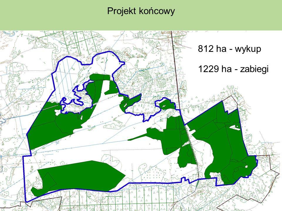 Projekt końcowy 812 ha - wykup 1229 ha - zabiegi