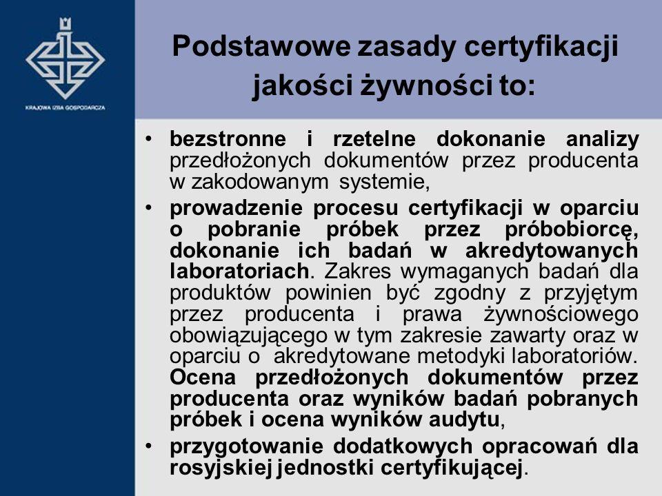bezstronne i rzetelne dokonanie analizy przedłożonych dokumentów przez producenta w zakodowanym systemie, prowadzenie procesu certyfikacji w oparciu o