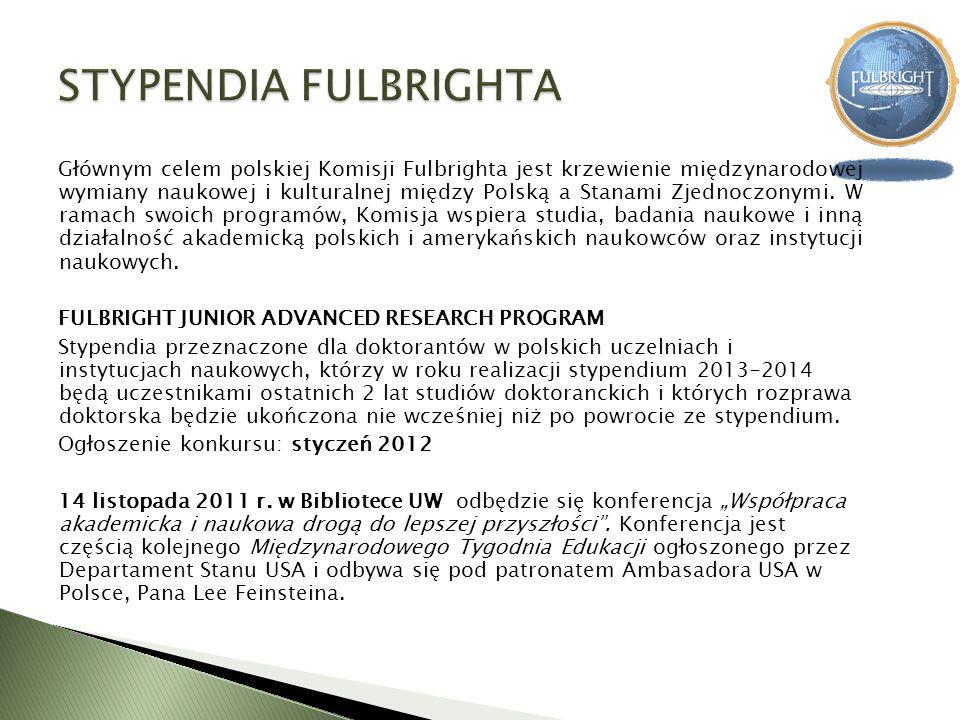 Głównym celem polskiej Komisji Fulbrighta jest krzewienie międzynarodowej wymiany naukowej i kulturalnej między Polską a Stanami Zjednoczonymi. W rama