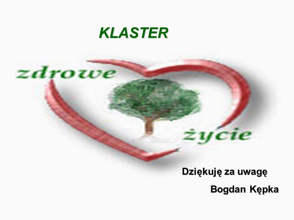 Dziękuję za uwagę Bogdan Kępka KLASTER