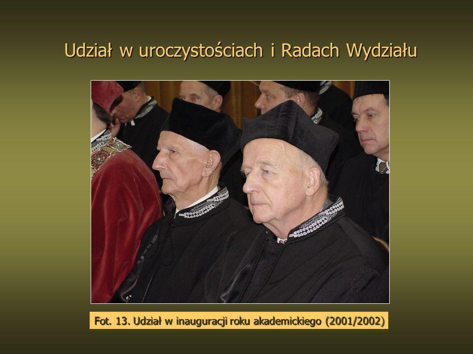 Udział w uroczystościach i Radach Wydziału Fot. 13. Udział w inauguracji roku akademickiego (2001/2002)
