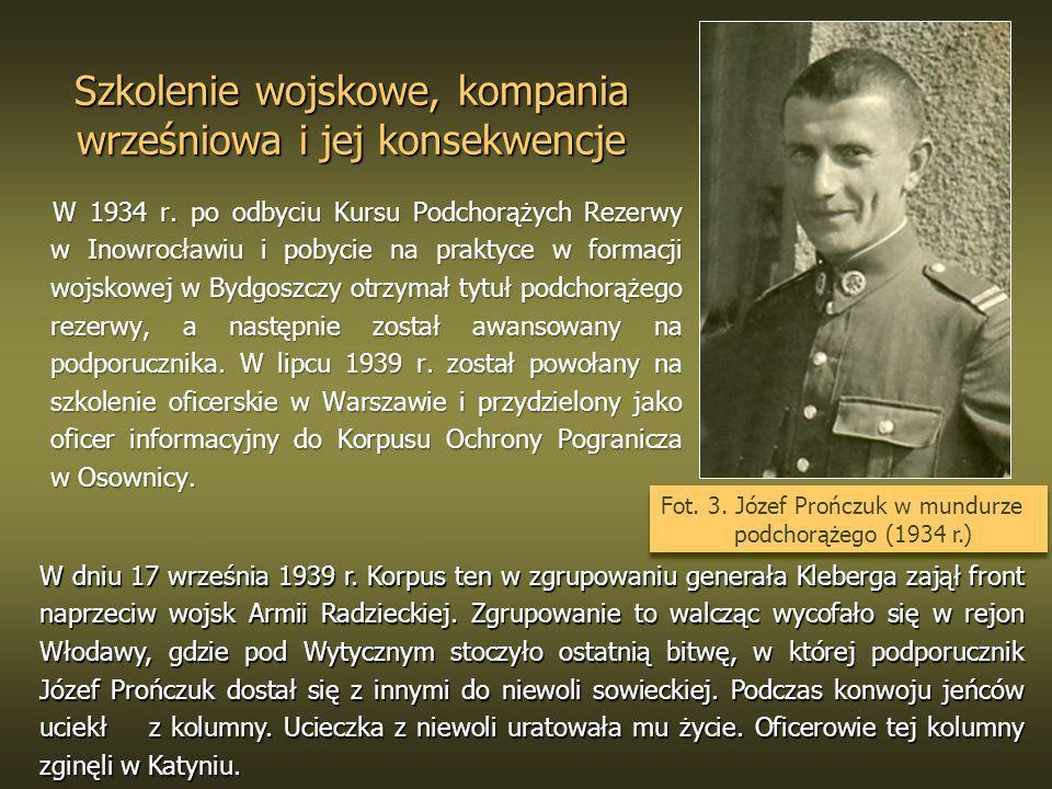 Szkolenie wojskowe, kompania wrześniowa i jej konsekwencje W 1934 r. po odbyciu Kursu Podchorążych Rezerwy w Inowrocławiu i pobycie na praktyce w form