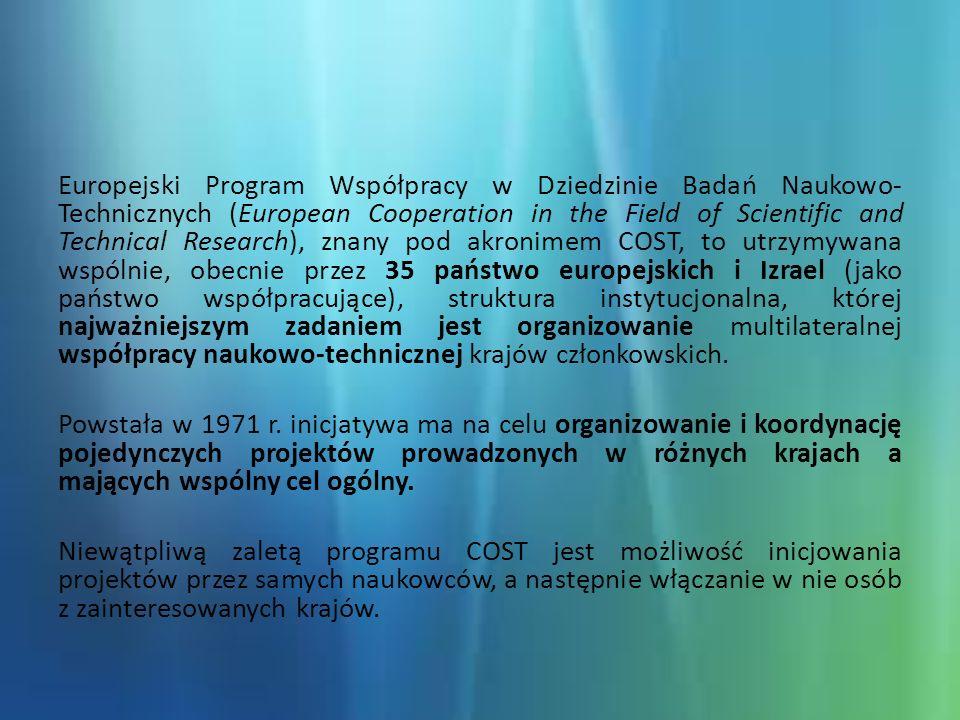 DOMENY www.cost.eu BM1204 - Biomedicine and Molecular Biosciences (BMBS), 2012 + numer porządkowy (04)