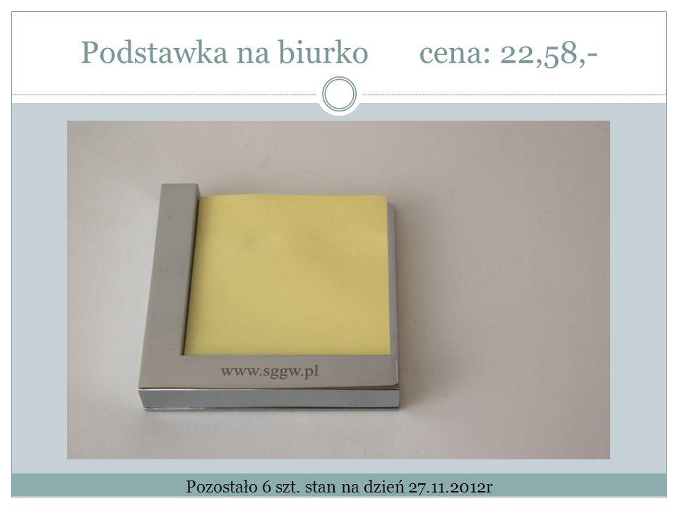 Podstawka na biurkocena: 22,58,- Pozostało 6 szt. stan na dzień 27.11.2012r