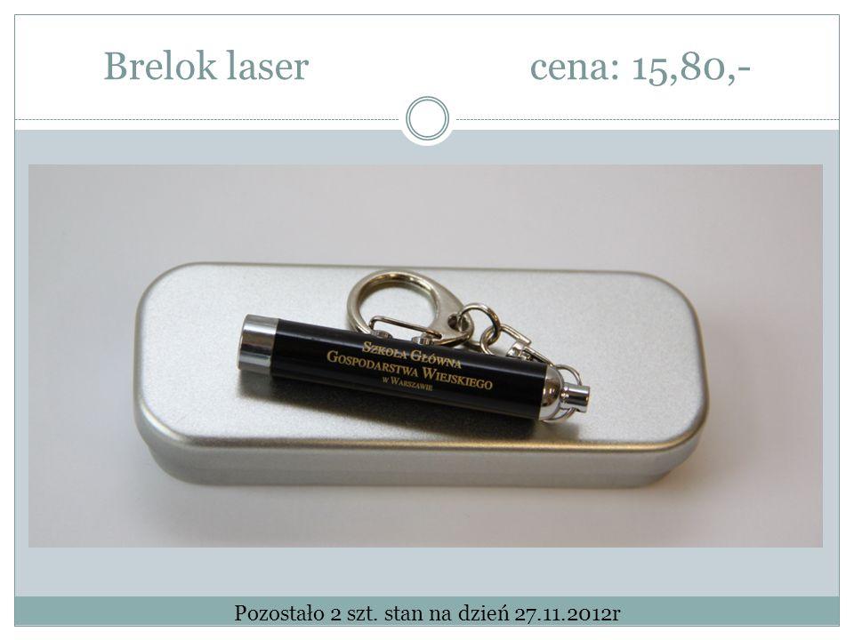 Brelok lasercena: 15,80,- Pozostało 2 szt. stan na dzień 27.11.2012r