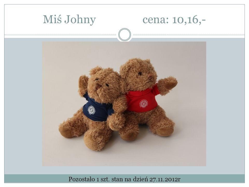 Miś Johny cena: 10,16,- Pozostało 1 szt. stan na dzień 27.11.2012r