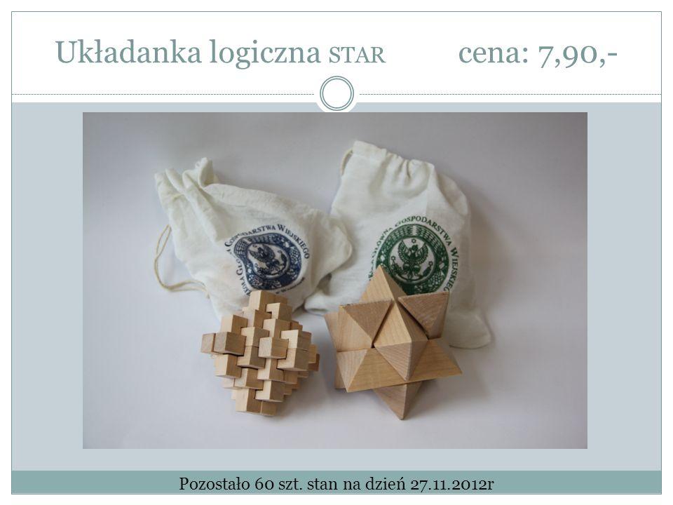 Układanka logiczna STAR cena: 7,90,- Pozostało 60 szt. stan na dzień 27.11.2012r