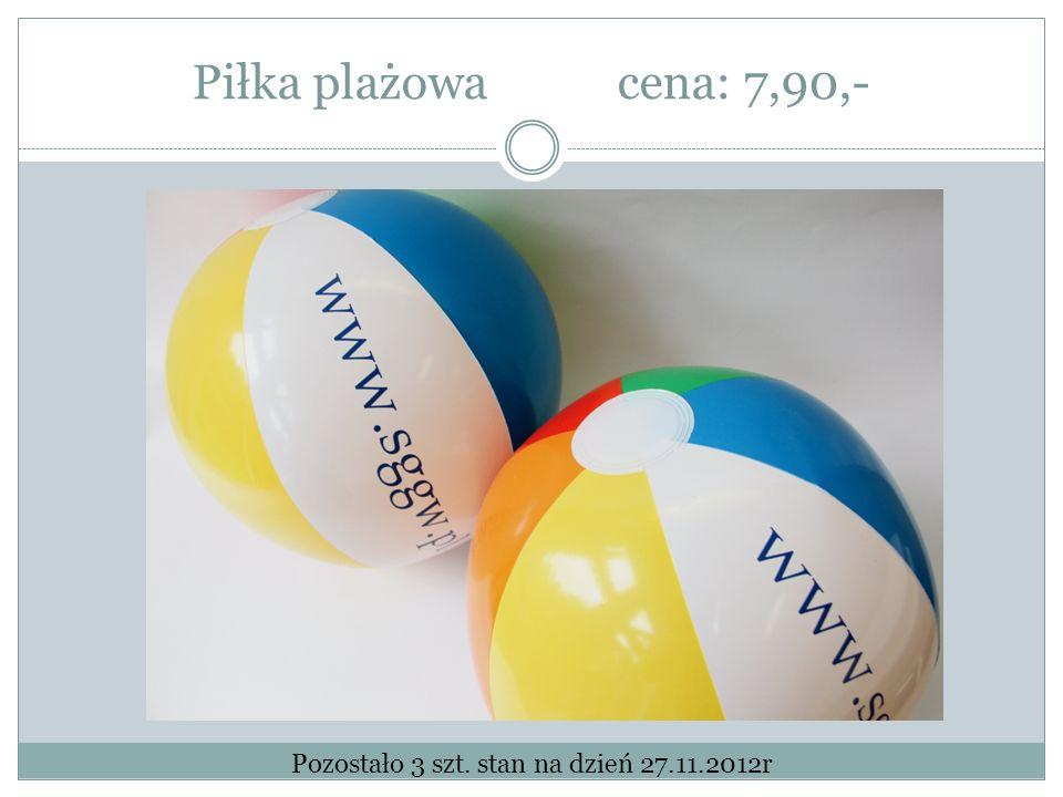 Piłka plażowacena: 7,90,- Pozostało 3 szt. stan na dzień 27.11.2012r