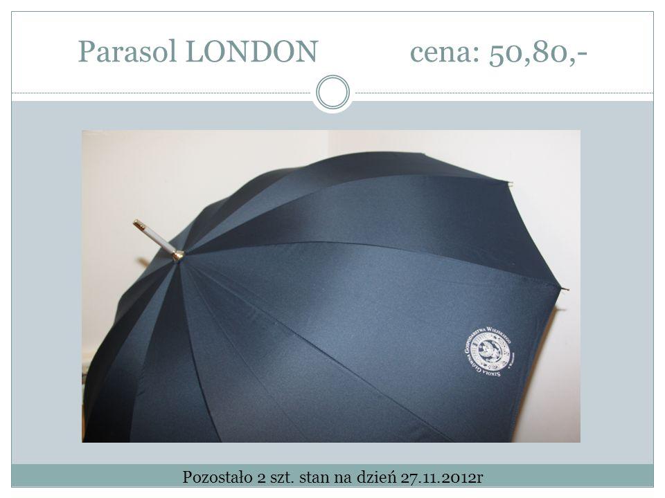 Parasol LONDONcena: 50,80,- Pozostało 2 szt. stan na dzień 27.11.2012r