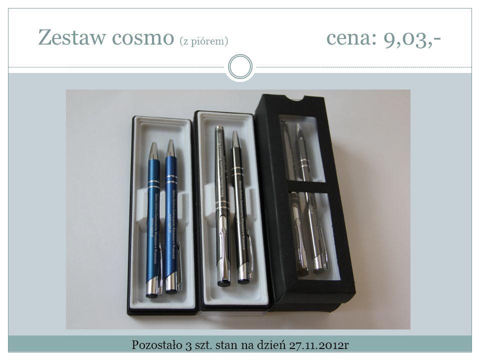Zestaw cosmo (z piórem) cena: 9,03,- Pozostało 3 szt. stan na dzień 27.11.2012r
