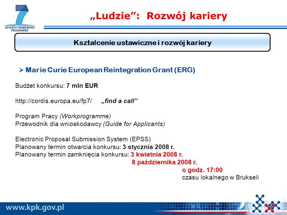Ludzie: Rozwój kariery Kszta ł cenie ustawiczne i rozwój kariery 3 kwietnia 2008 r.