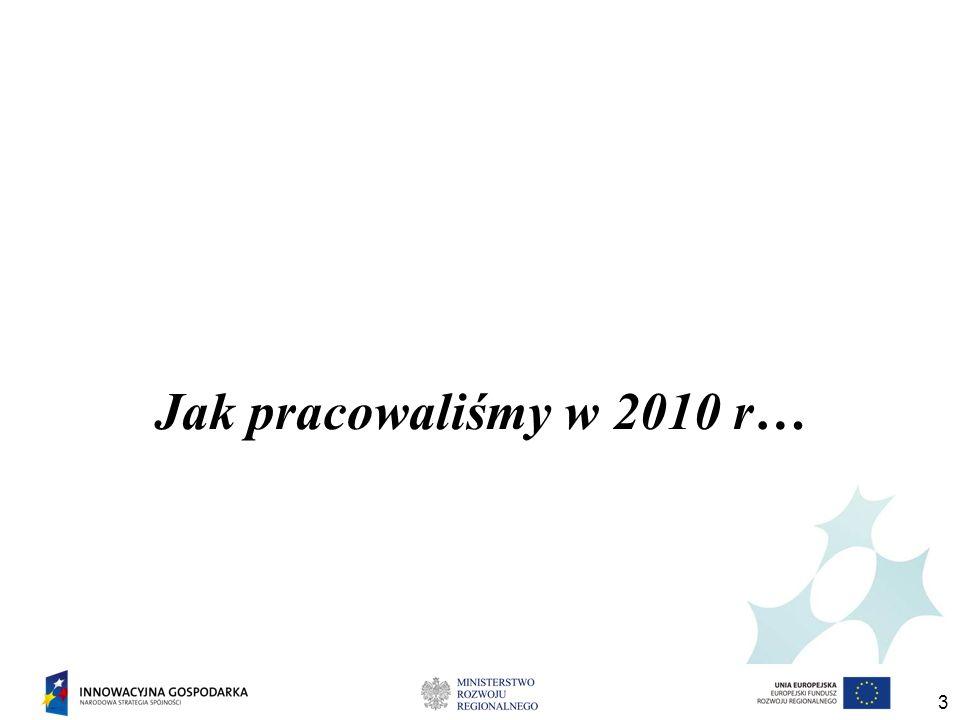 3 Jak pracowaliśmy w 2010 r…