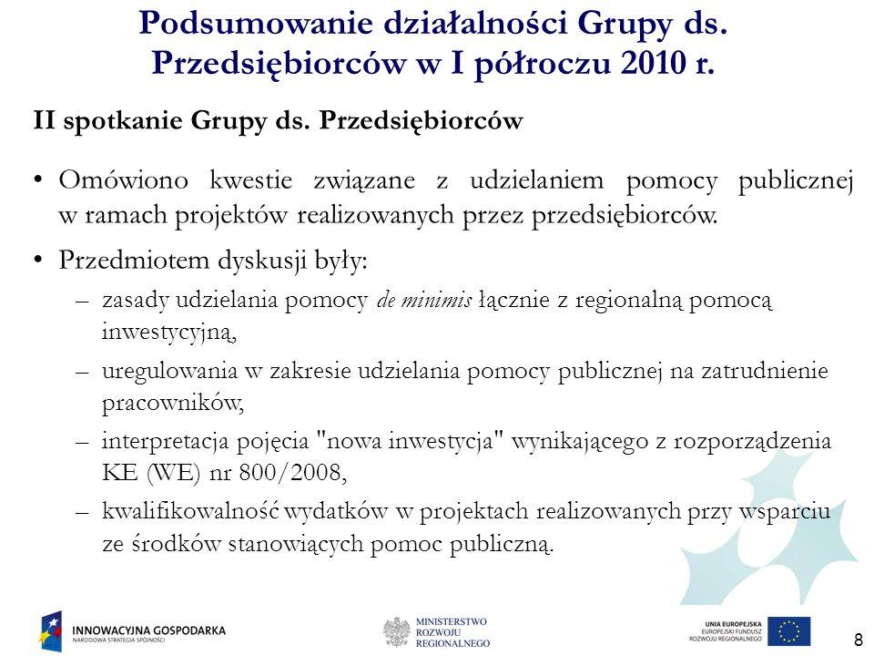 9 Rekomendacje z II spotkania Grupy ds.