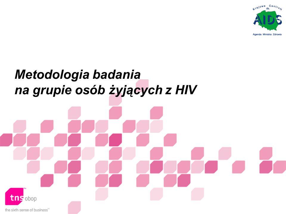 Metodologia badania na grupie osób żyjących z HIV