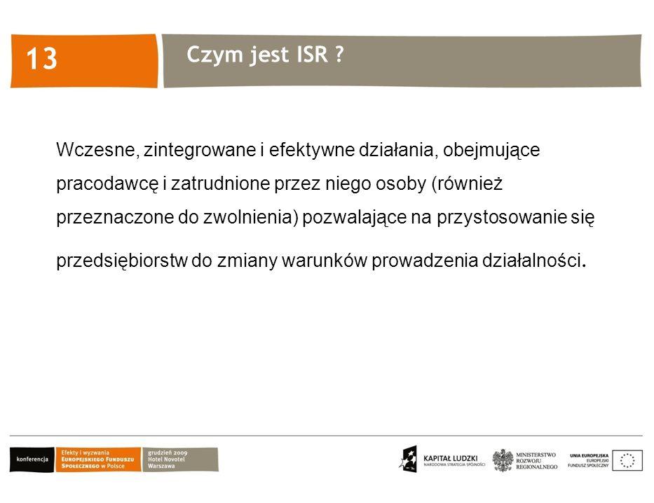 Kliknij, aby edytować styl 13 Wczesne, zintegrowane i efektywne działania, obejmujące pracodawcę i zatrudnione przez niego osoby (również przeznaczone