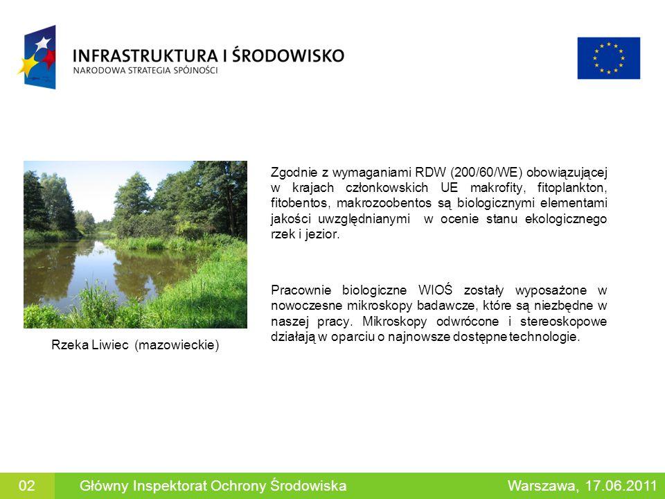 Organizmy spędzające całe życie w wodzie: skąposzczety, pijawki, mięczaki, skorupiaki i inne w celu oceny zanieczyszczenia substancjami organicznymi ŚLIMAK (GASTROPODA) PIJAWKA (HIRUDINEA) Warszawa, 17.06.2011Główny Inspektorat Ochrony Środowiska13