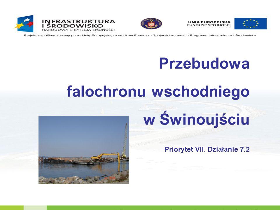 Stan istniejący Zakres robót związanych z przebudową falochronu wschodniego w Świnoujściu obejmuje wykonanie umocnienia dna oraz zachodniej skarpy falochronu w części podwodnej i nadwodnej.