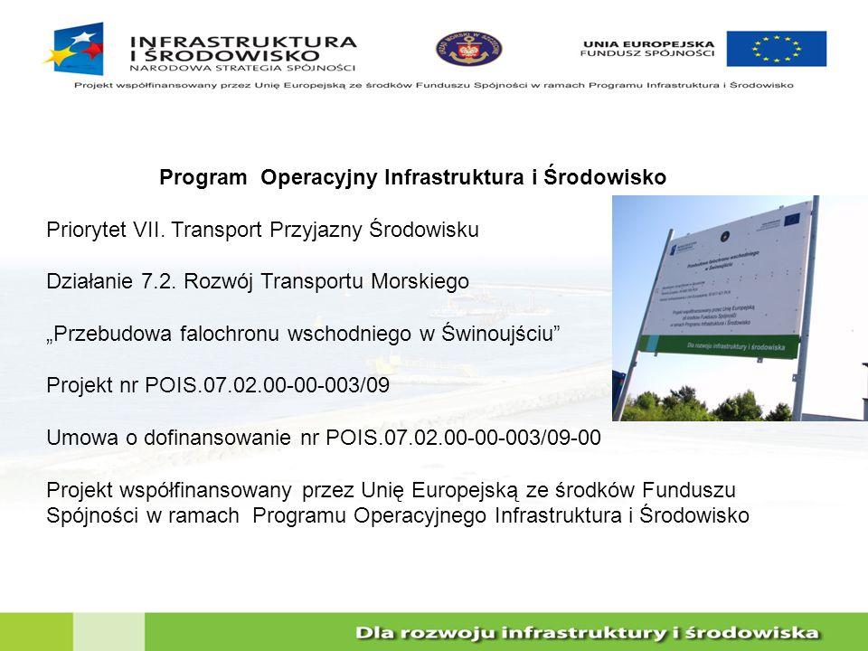 Program Operacyjny Infrastruktura i Środowisko Priorytet VII. Transport Przyjazny Środowisku Działanie 7.2. Rozwój Transportu Morskiego Przebudowa fal