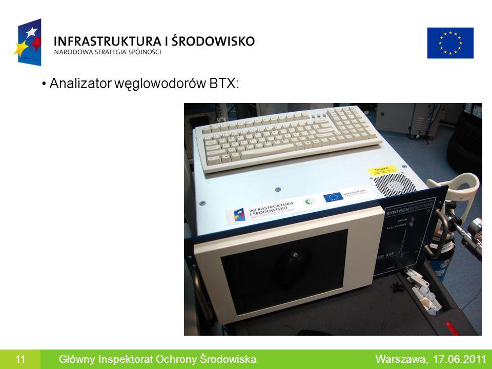 Analizator węglowodorów BTX: Główny Inspektorat Ochrony ŚrodowiskaWarszawa, 17.06.201111