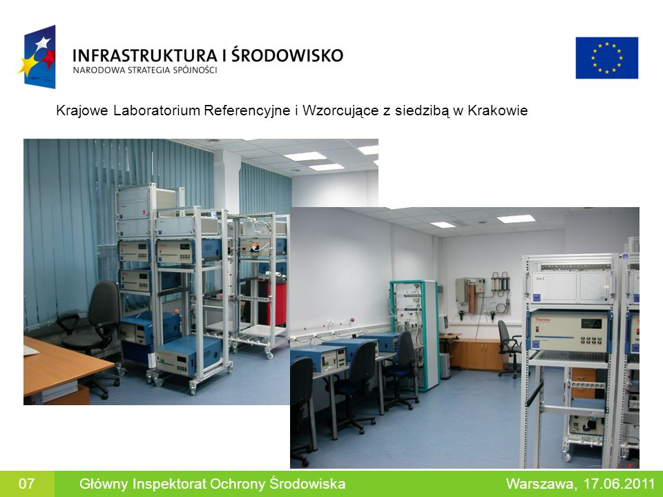 Krajowe Laboratorium Referencyjne i Wzorcujące z siedzibą w Krakowie Główny Inspektorat Ochrony ŚrodowiskaWarszawa, 17.06.201107