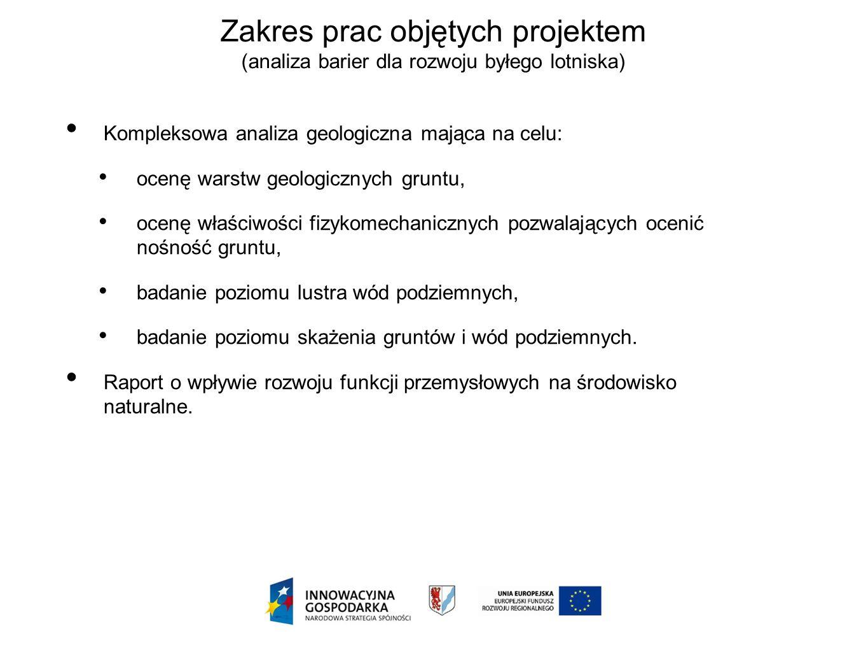 Kompleksowa analiza geologiczna mająca na celu: ocenę warstw geologicznych gruntu, ocenę właściwości fizykomechanicznych pozwalających ocenić nośność