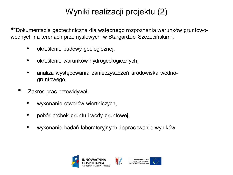 Dokumentacja geotechniczna dla wstępnego rozpoznania warunków gruntowo- wodnych na terenach przemysłowych w Stargardzie Szczecińskim, określenie budow