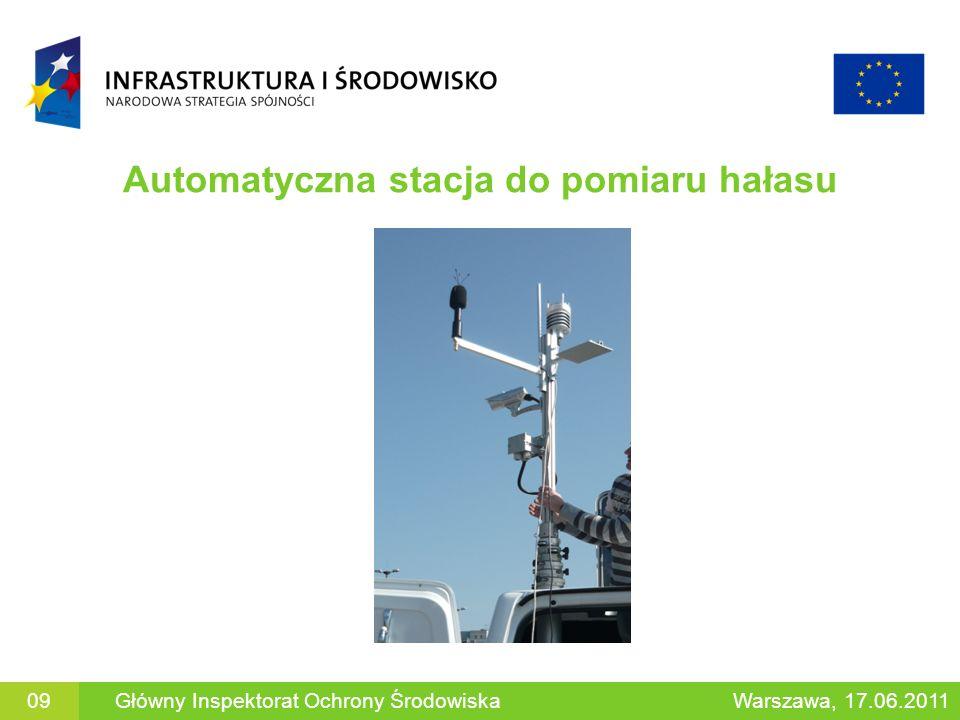 Automatyczna stacja do pomiaru hałasu 09Główny Inspektorat Ochrony ŚrodowiskaWarszawa, 17.06.2011