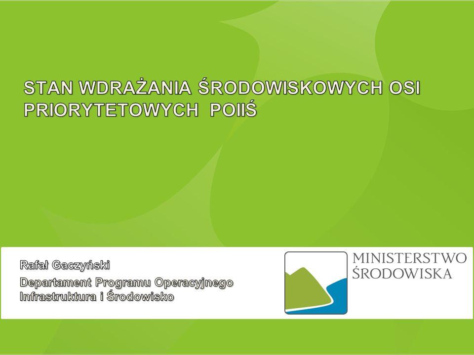 UNIA EUROPEJSKA FUNDUSZ SPÓJNOŚCI EUROPEJSKI FUNDUSZ ROZWOJU REGIONALNEGO 17 stycznia 2014 2 V – Ochrona przyrody i kształtowanie postaw ekologicznych I – Gospodarka wodno-ściekowa II – Gospodarka odpadami i ochrona powierzchni ziemi III – Zarządzanie zasobami i przeciwdziałanie zagrożeniom środowiska IV – Przedsięwzięcia dostosowujące przedsiębiorstwa do wymogów ochrony środowiska